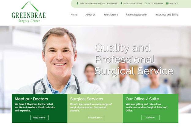 bay area website design for medical centers