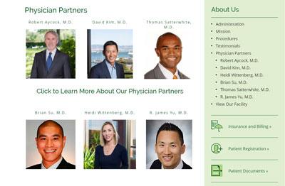 medical website design bay area