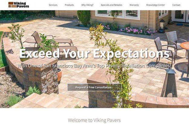 viking pavers wordpress website by KO-Websites