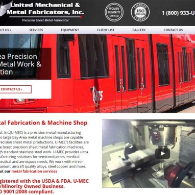 Machine Shop & Manufacturing Web Design