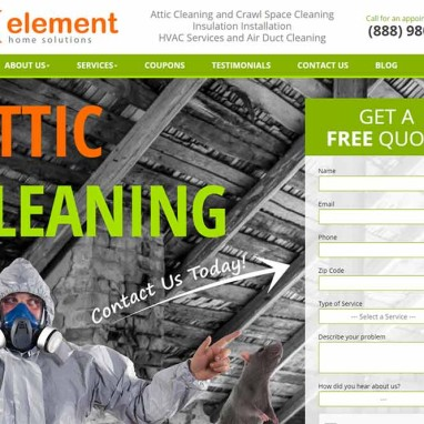 Attic Servicing Web Design