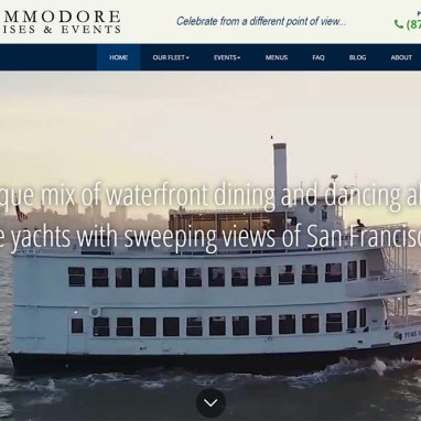 Cruises and Event Venues Web Design