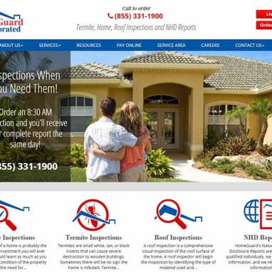 Home Inspection Web Design