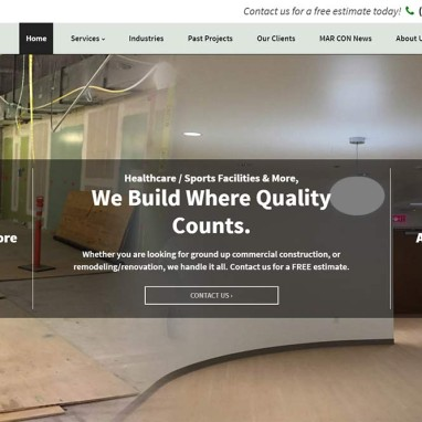 Construction and General Contractor Web Design