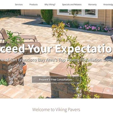 KO-Websites Creates a New Website for Viking Pavers