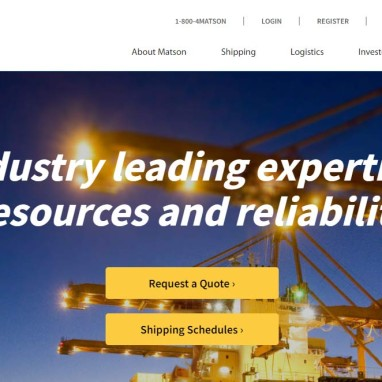 KO Websites Launches New WordPress Website for Matson, the Pacific's Leading Shipping Company
