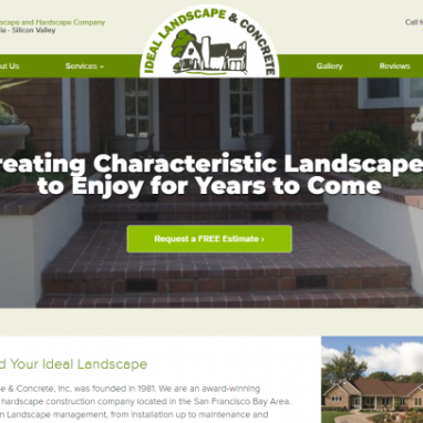 Ideal Landscape Design is a Perfect Website Solution