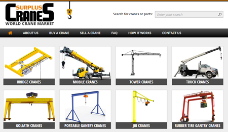 Various Cranes for Sale