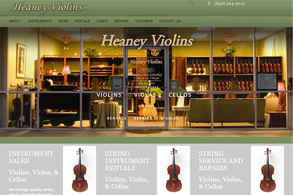 Heaney Violins Responsive Website