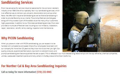 industrial website design bay area