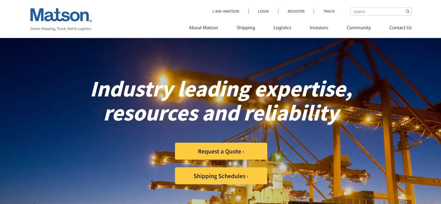 KO Websites Launches New WordPress Website for Matson | Web Design