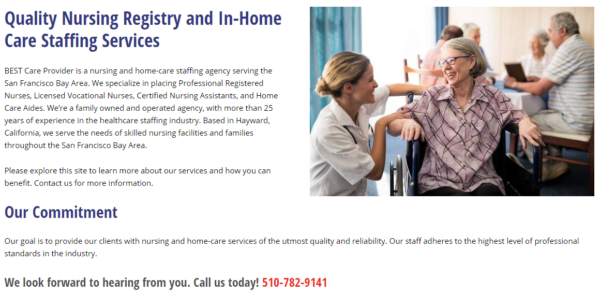 WordPress Website for In-Home Care Services