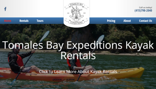 Tomales Bay Expeditions WordPress Site