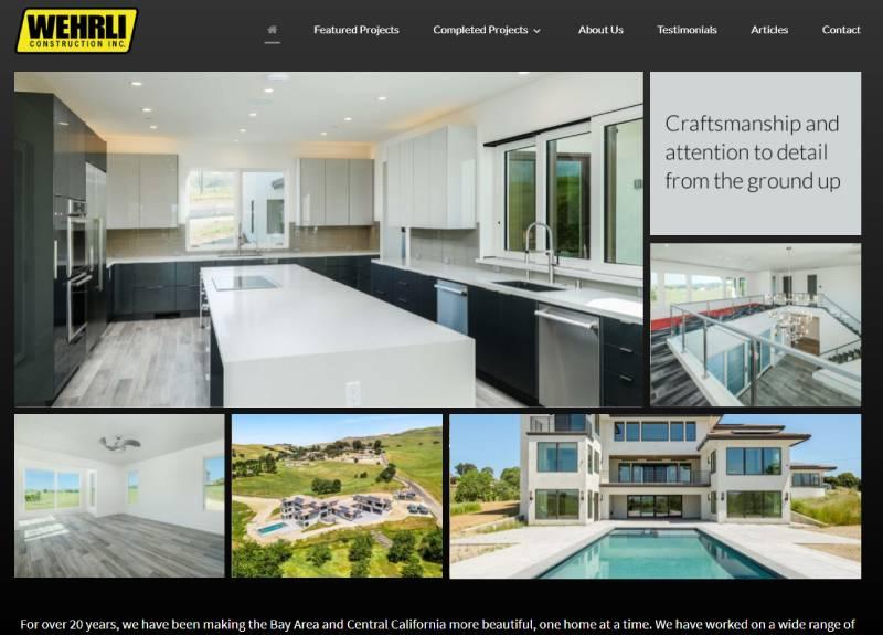 wordpress web design bay area, home services websites